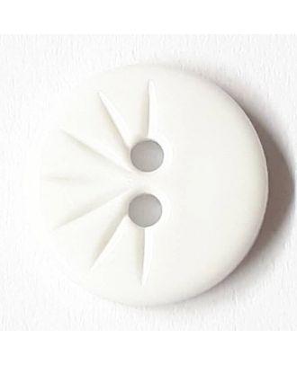 shirt button wit 2 holes - Size: 13mm - Color: white - Art.No. 211440