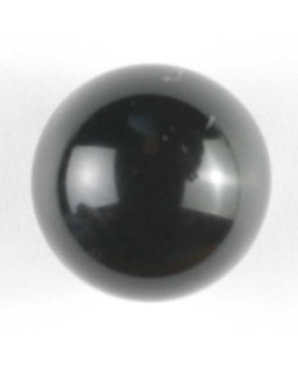 half ball button with shank - Size: 15mm - Color: black - Art.No. 221901