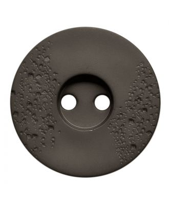 polyamide button round shape with fine structure and 2 holes - Size: 15mm - Color: grau - Art.No.: 268800