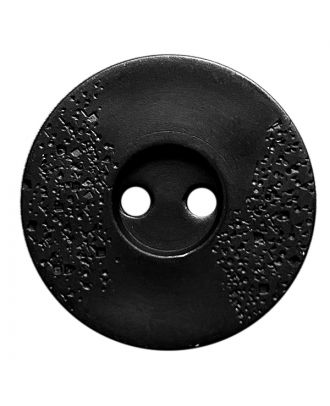 polyamide button round shape with fine structure and 2 holes - Size: 15mm - Color: schwarz - Art.No.: 261429