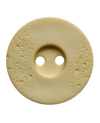 polyamide button round shape with fine structure and 2 holes - Size: 15mm - Color: hellbeige - Art.No.: 268801
