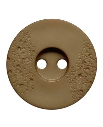 polyamide button round shape with fine structure and 2 holes - Size: 15mm - Color: beige - Art.No.: 268802