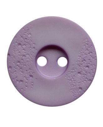 polyamide button round shape with fine structure and 2 holes - Size: 15mm - Color: flieder - Art.No.: 268804
