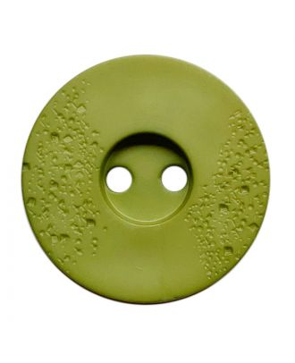 polyamide button round shape with fine structure and 2 holes - Size: 15mm - Color: hellgrün - Art.No.: 268805