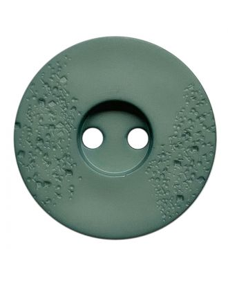 polyamide button round shape with fine structure and 2 holes - Size: 15mm - Color: grün - Art.No.: 268806