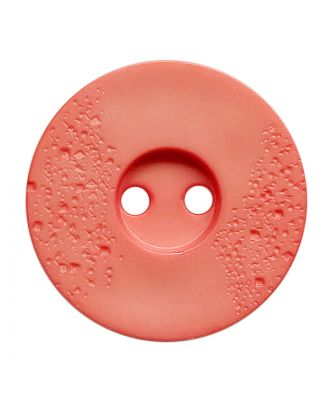 polyamide button round shape with fine structure and 2 holes - Size: 15mm - Color: pink - Art.No.: 268807