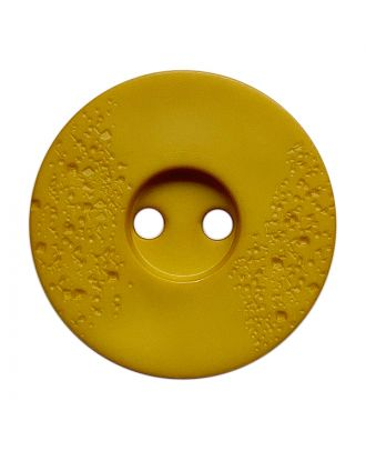 polyamide button round shape with fine structure and 2 holes - Size: 23mm - Color: gelb - Art.No.: 338819