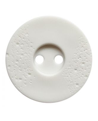 polyamide button round shape with fine structure and 2 holes - Size: 23mm - Color: weiß - Art.No.: 331242