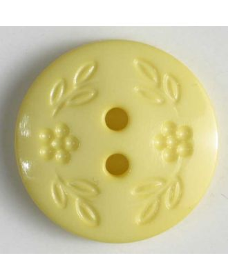 Fashion button - Size: 11mm - Color: yellow - Art.No. 201366