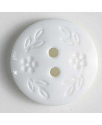 Fashion button - Size: 13mm - Color: white - Art.No. 211533