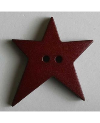 Star button - Size: 28mm - Color: red - Art.No. 259072