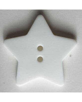 Quilting & Patchwork button - Size: 28mm - Color: white - Art.No. 289026