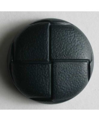 Leather imitation button - Size: 20mm - Color: blue - Art.No. 260953