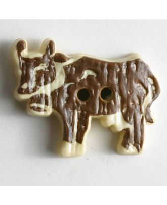 Cow button - Size: 35mm - Color: brown - Art.No. 350359