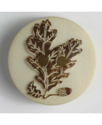 Edelweiss button - Size: 20mm - Color: brown - Art.No. 260966