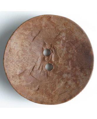 Fashion Button - Size: 60mm - Color: brown - Art.No. 470014