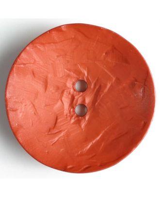 Fashion Button - Size: 60mm - Color: orange - Art.No. 410042