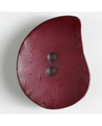 fashion button - Size: 50mm - Color: wine red - Art.-Nr.: 390232