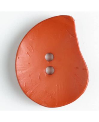Fashion Button - Size: 50mm - Color: orange - Art.No. 390124