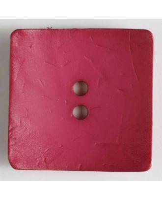 Big button, square - Size: 60mm - Color: pink - Art.No. 410122