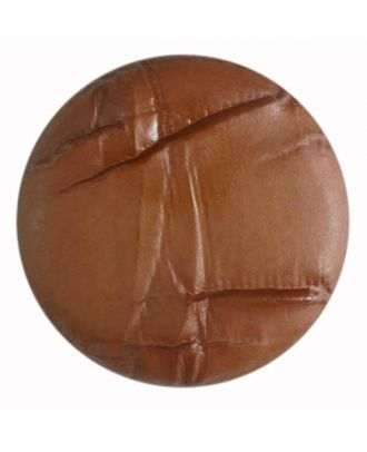 plastic button with shank - Size: 38mm - Color: brown - Art.No. 362507