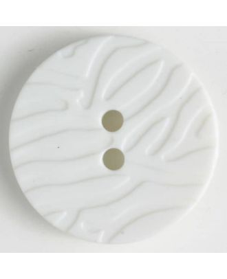 fashion button - Size: 28mm - Color: white - Art.-Nr.: 340798