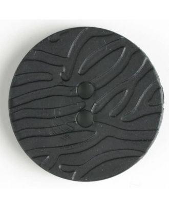 fashion button - Size: 28mm - Color: black - Art.-Nr.: 340799
