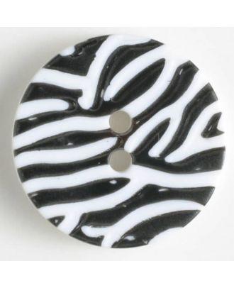fashion button - Size: 28mm - Color: black - Art.-Nr.: 340893
