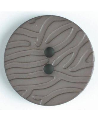 fashion button - Size: 28mm - Color: brown - Art.-Nr.: 344500