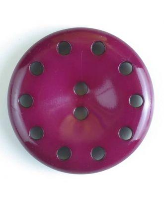 plastic button with 10 holes - Size: 38mm - Color: lilac - Art.No. 380183