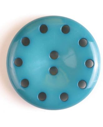 plastic button with 10 holes - Size: 38mm - Color: green - Art.No. 380184