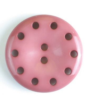 plastic button with 10 holes - Size: 38mm - Color: pink - Art.No. 380185