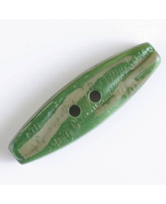 toogle with 2 holes - Size: 50mm - Color: green - Art.No. 400061