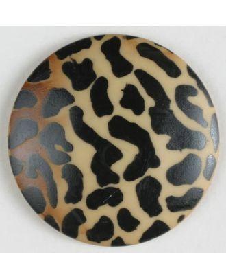Tiger look button - Size: 20mm - Color: beige - Art.No. 310560