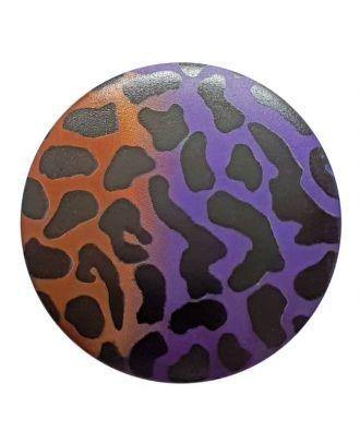 polyamidbutton  animal print with shank - Size: 20mm - Color: lilac - Art.No. 313812