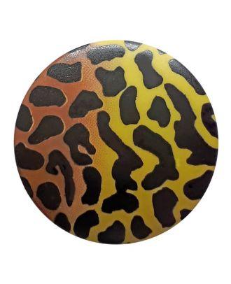 polyamidbutton  animal print with shank - Size: 28mm - Color: green - Art.No. 363802