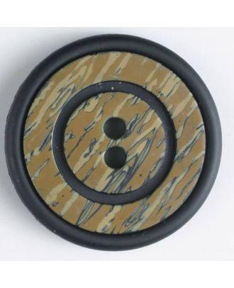 plastic button with 2 holes - Size: 34mm - Color: black - Art.No. 370350
