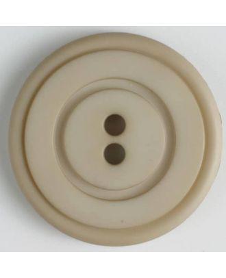 plastic button with 2 holes - Size: 34mm - Color: beige - Art.No. 374516
