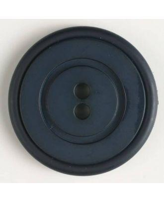 plastic button with 2 holes - Size: 34mm - Color: navy blue - Art.No. 370348