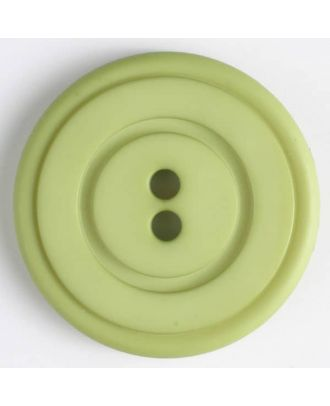 plastic button with 2 holes - Size: 34mm - Color: green - Art.No. 374517
