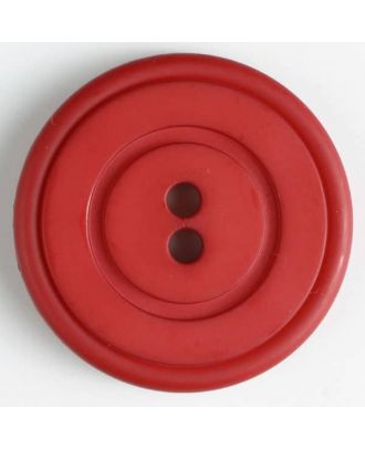 plastic button with 2 holes - Size: 34mm - Color: red - Art.No. 370349