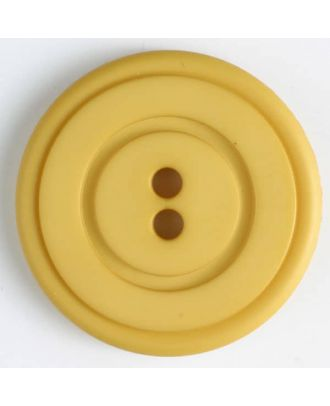 plastic button with 2 holes - Size: 34mm - Color: yellow - Art.No. 374518