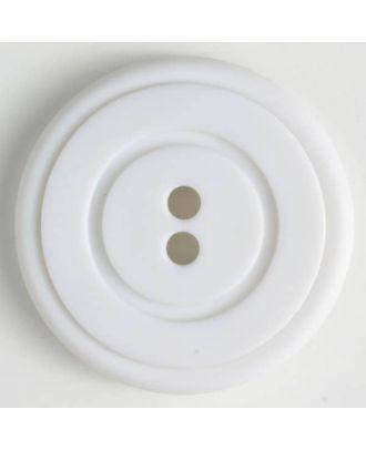 fashion button - Size: 34mm - Color: white - Art.-Nr.: 370346