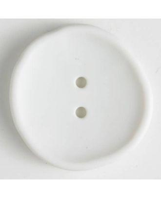 plastic button with 2 holes - Size: 38mm - Color: white - Art.No. 380189