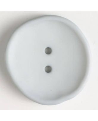 plastic button with 2 holes - Size: 38mm - Color: grey - Art.No. 384516
