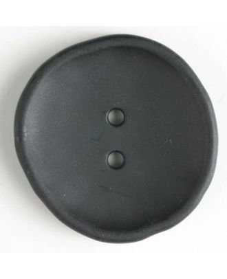 plastic button with 2 holes - Size: 38mm - Color: black - Art.No. 380190