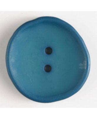 fashion button - Size: 38mm - Color: blue - Art.-Nr.: 380223