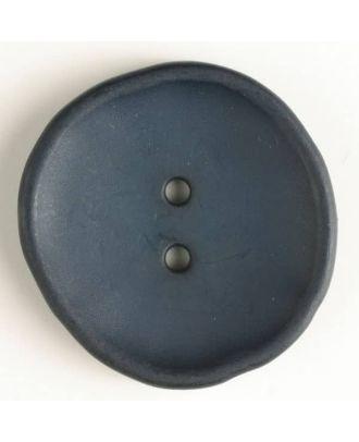 plastic button with 2 holes - Size: 38mm - Color: navy blue - Art.No. 380191