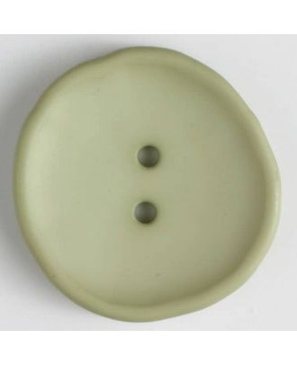 plastic button with 2 holes - Size: 38mm - Color: green - Art.No. 384519