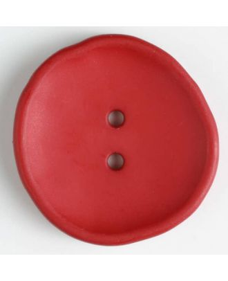 plastic button with 2 holes - Size: 38mm - Color: red - Art.No. 380192